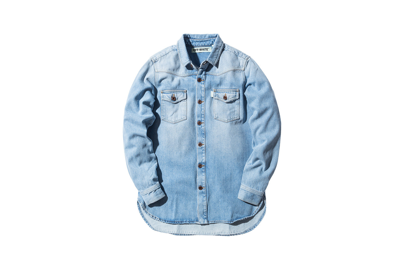 Off-White Brushed Denim Shirt - Bleach