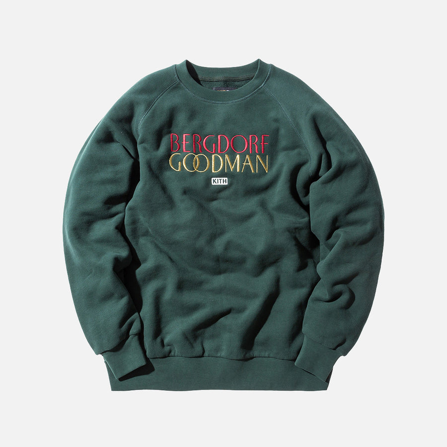 Kith x Bergdorf Goodman Logo Williams Crewneck