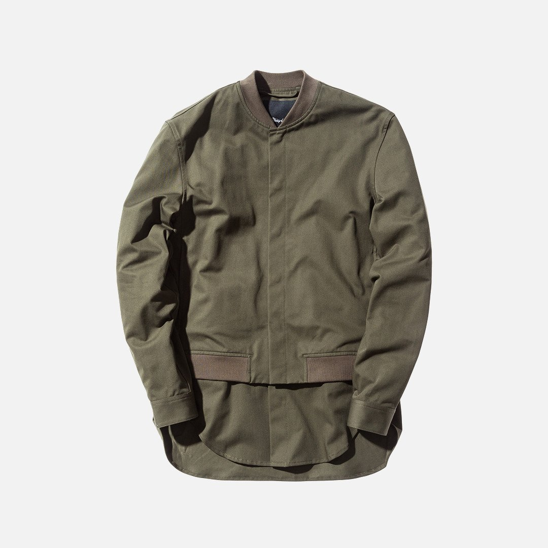 3.1 Phillip Lim Classic Bomber Shirt - Army Green