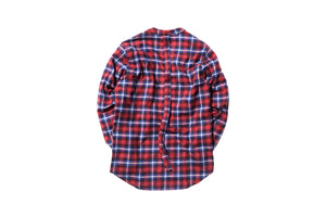 424 Flannel Throw Over Shirt - Red / White / Blue