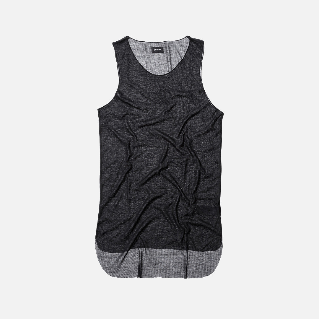 Stampd Edge Layer Tank Top - Black