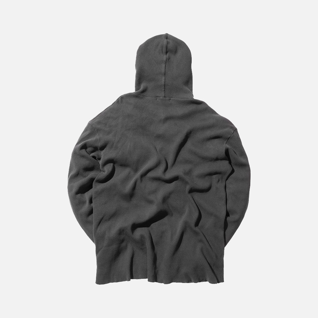 Kith Classics x Calux Waffle Hoodie - Faded Black