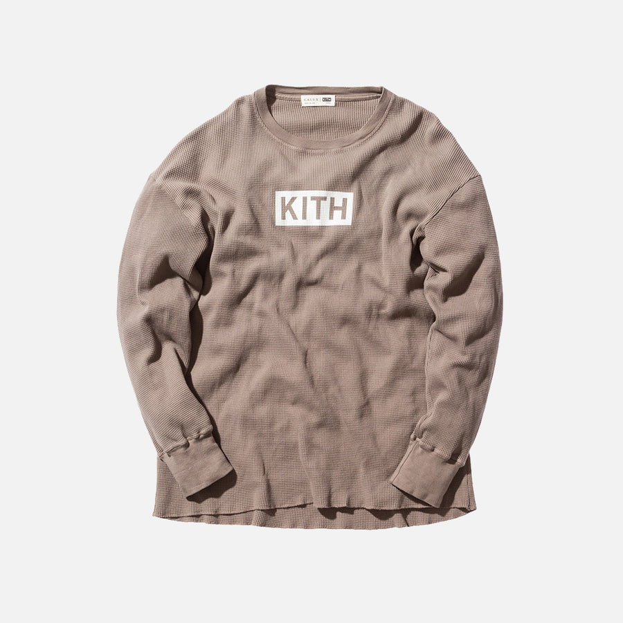 Kith Classics x Calux Waffle Thermal - Cinder