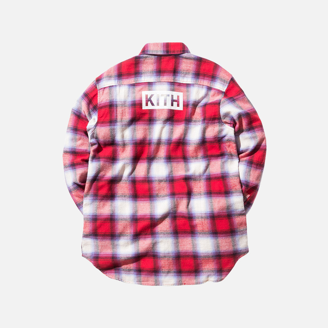 Kith Classics Hollis Plaid Flannel - Red