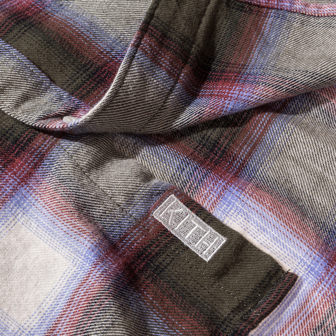 Kith Classics Hollis Plaid Flannel - Green / Purple
