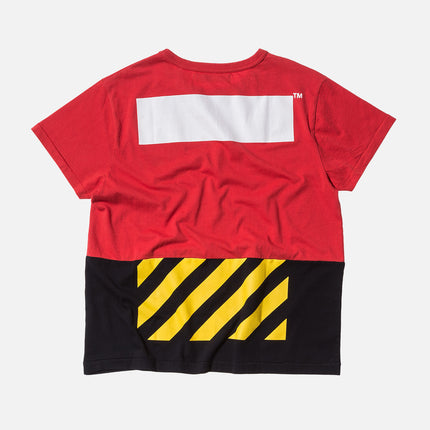 Off-White Patchwork Tee - Red / Black