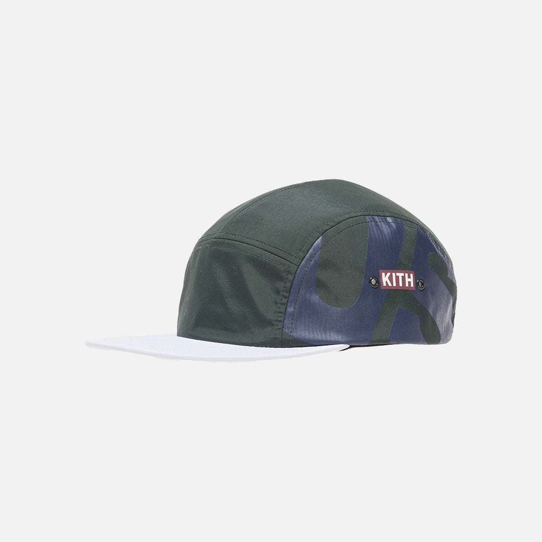 Kith Us Camp Hat - Forest Green / White