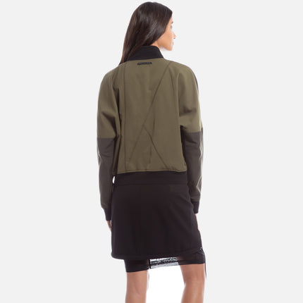 Kith Kiko Cropped Zip-Up - Black / Ivy Green