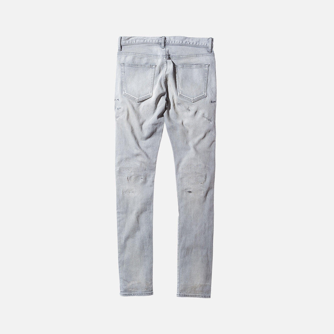 John Elliott The Cast 2 Destroyed Denim - Grey
