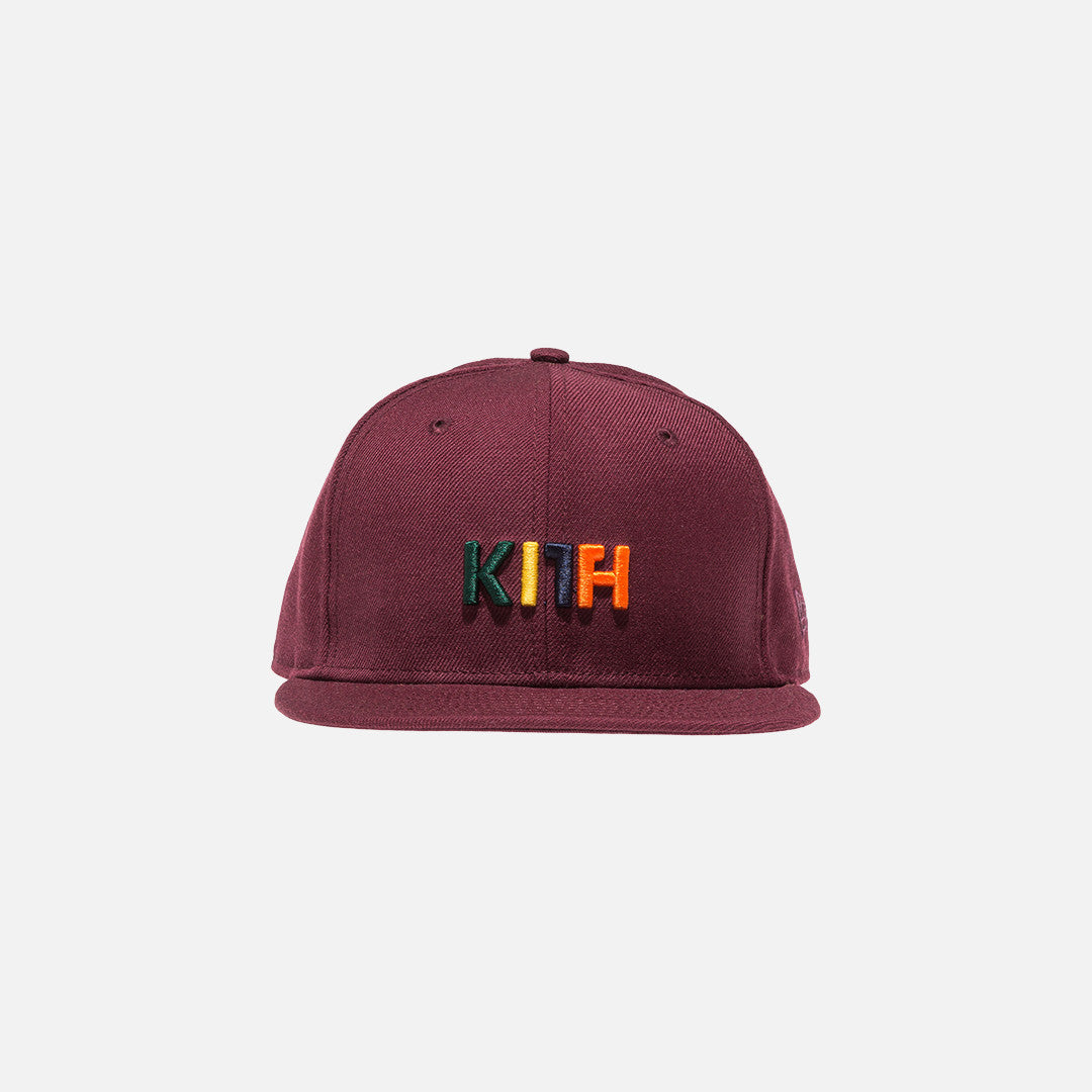 Kith x New Era Logo 59FIFTY Cap - Burgundy