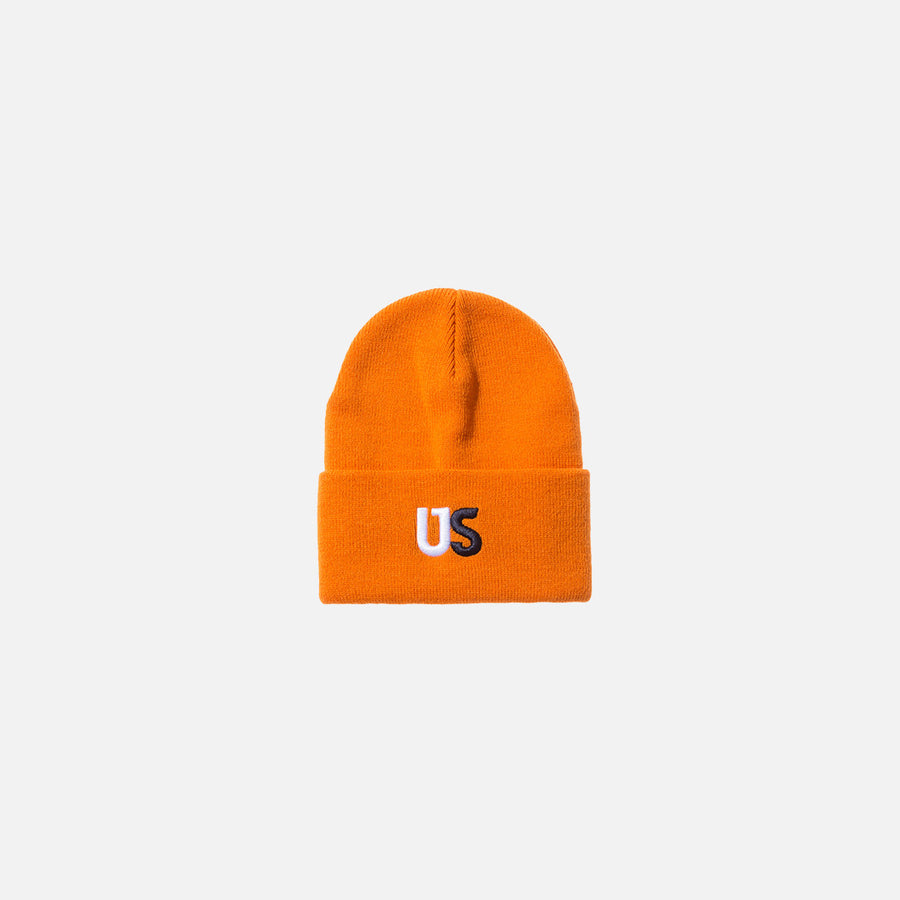 Kith Us Logo Beanie - Orange