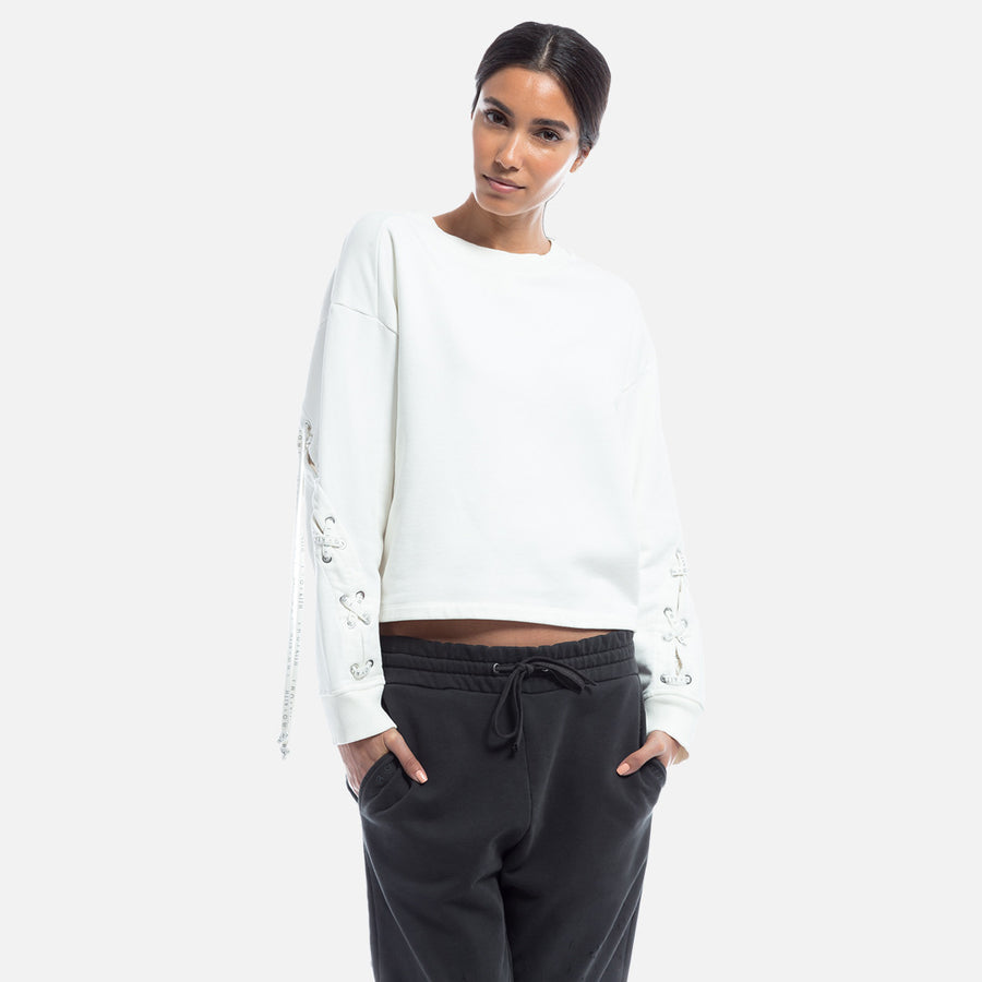 Kith x Iro Mukaki Lace-Up Crewneck - White