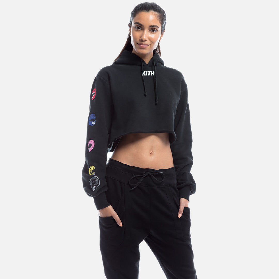 Kith x Power Rangers Cropped Hoodie - Black