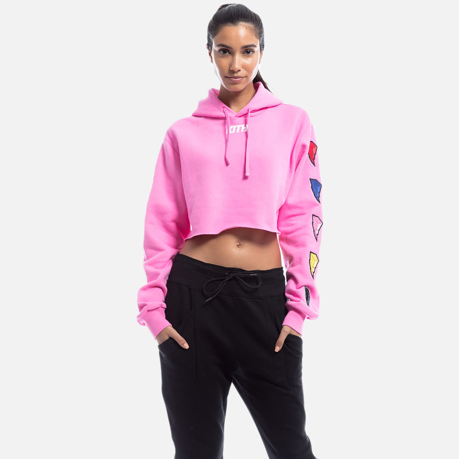 Kith x Power Rangers Cropped Hoodie - Pink