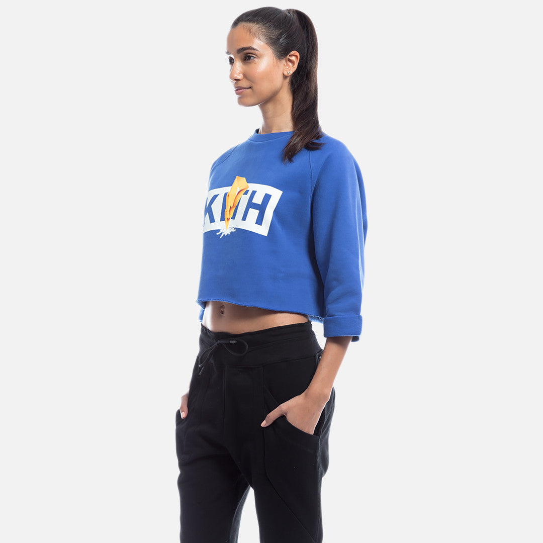 Kith x Power Rangers Cropped Crewneck - Blue