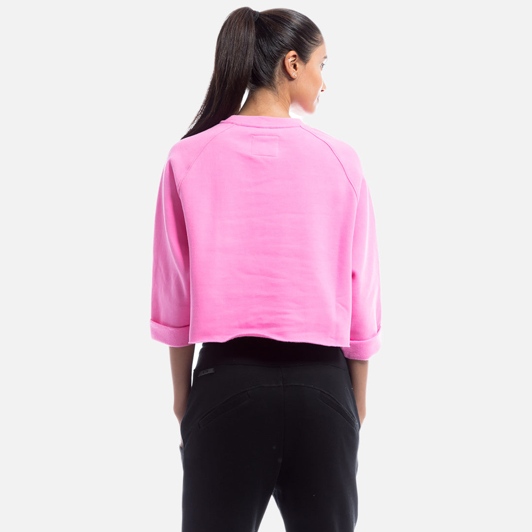 Kith x Power Rangers Cropped Crewneck - Pink