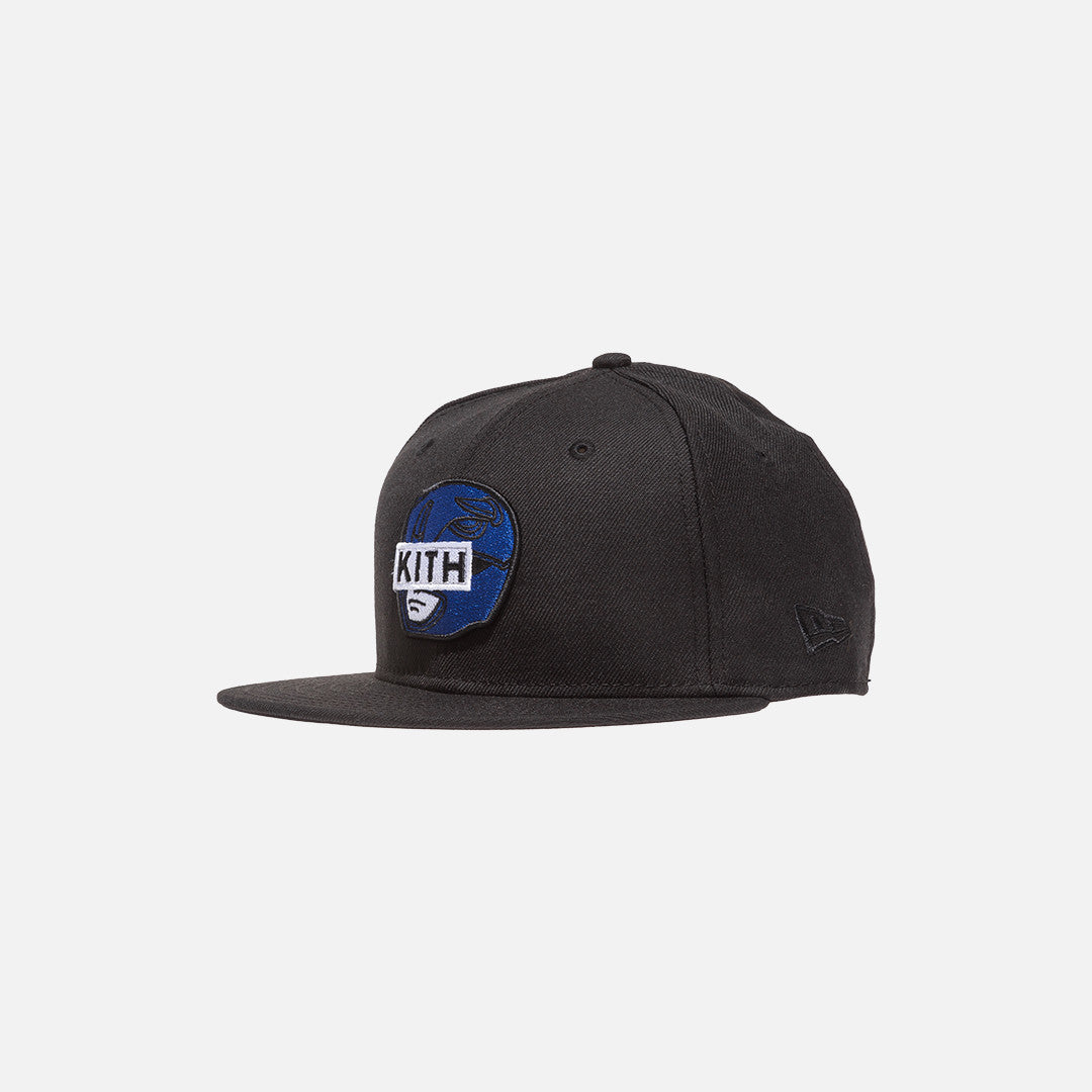 Kith x Power Rangers x New Era Logo 59FIFTY Cap - Black / Blue