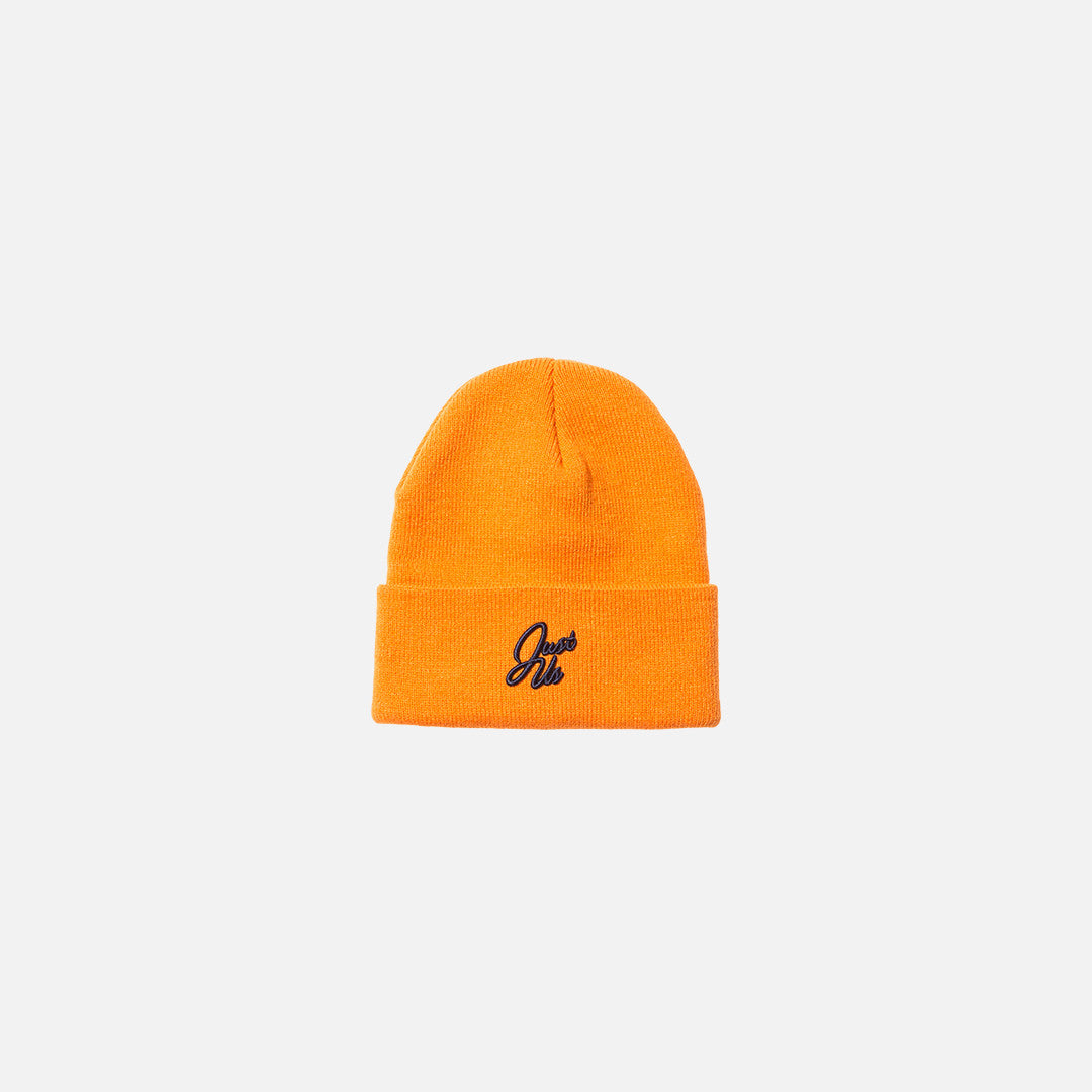 Kith Just Us Script Beanie - Orange