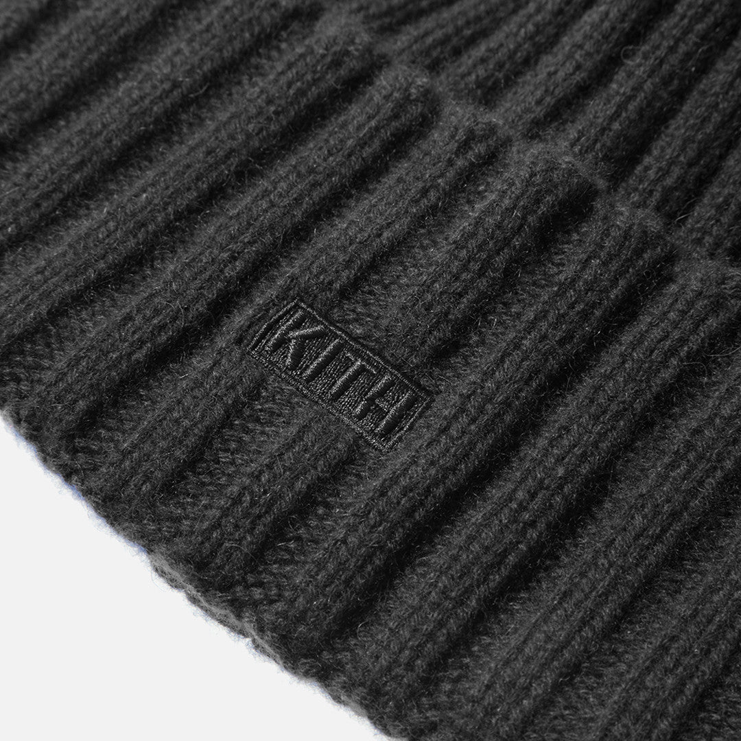 Kith x New Era Cashmere Beanie - Black