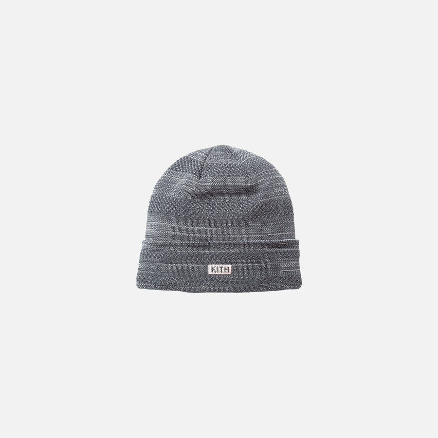 Kith x New Era Multi-Knit Beanie - India Ink / Pink