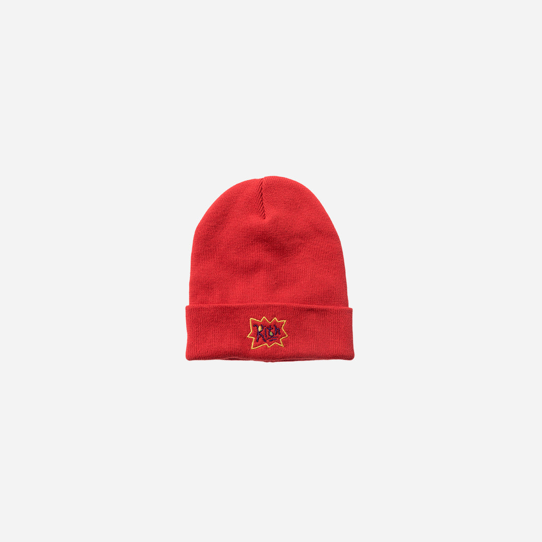 Kith x Rugrats Logo Beanie - Red