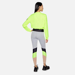 Kith Women x P.E Nation Replay Sweater - Bright Yellow