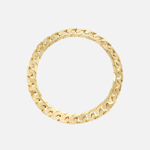 Numbering Hidden Lock Chain Necklace - Gold