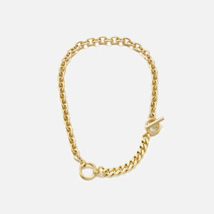 Numbering Double Toggle Chain Necklace - Gold