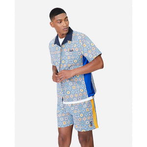 Kith Printed Shorts w/ Side Panel - Blue / Mutli Image 2