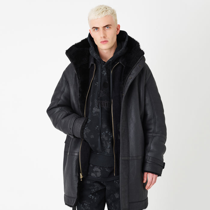Kith x mastermind WORLD Hilldale Shearling Parka - Black