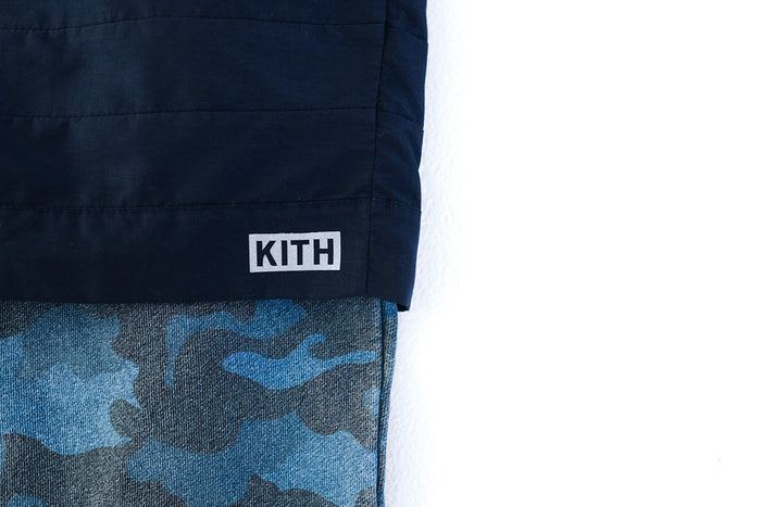 KITH Great Jones Sweat - Navy / Camo