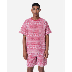 Kith Moroccan Print Seersucker Howard Tee - Red / White Image 2