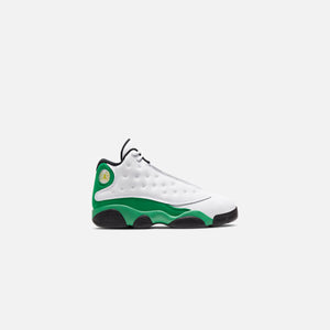 Nike Pre-School Air Jordan 13 Retro - White / Lucky Green / Black