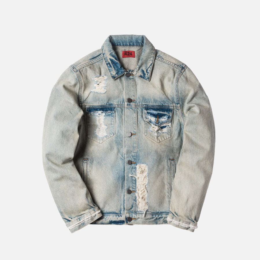 424 The Painter Denim Trucker Jacket - Light Indigo