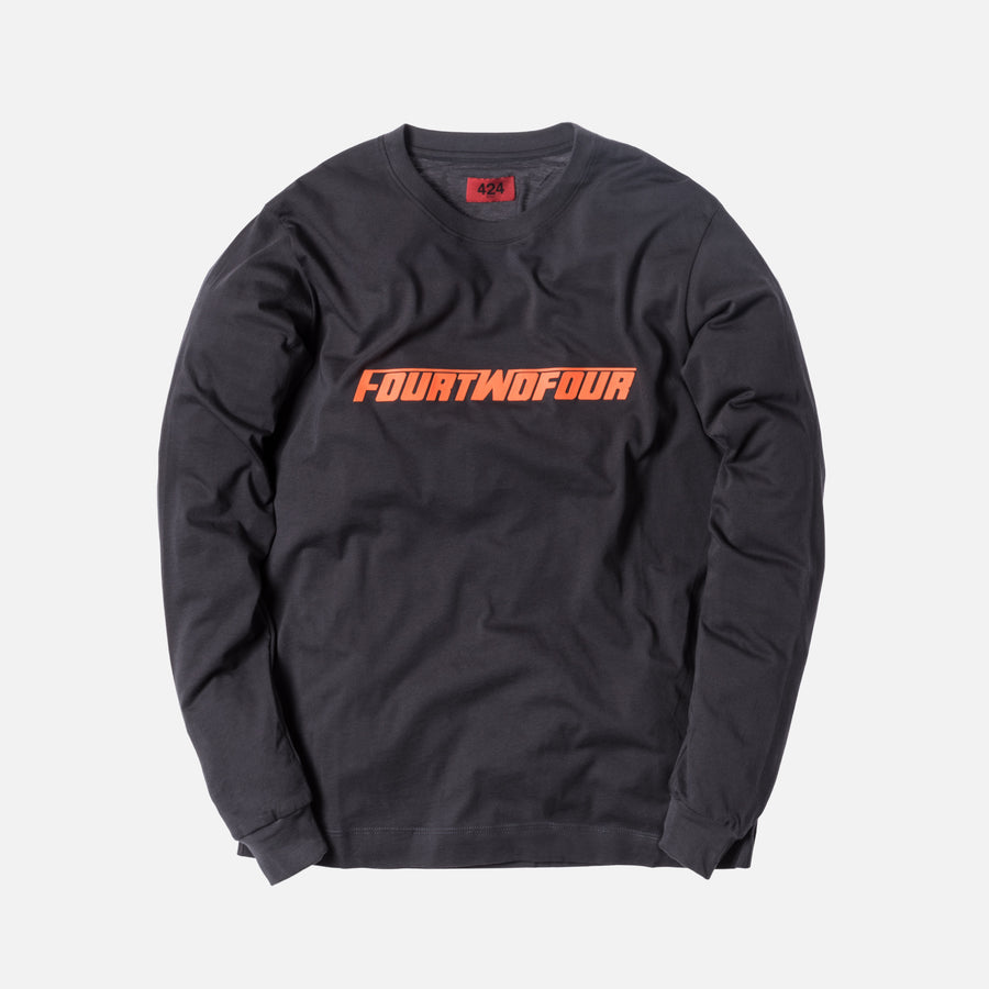 424 FOURTWOFOUR L/S Tee - Grey