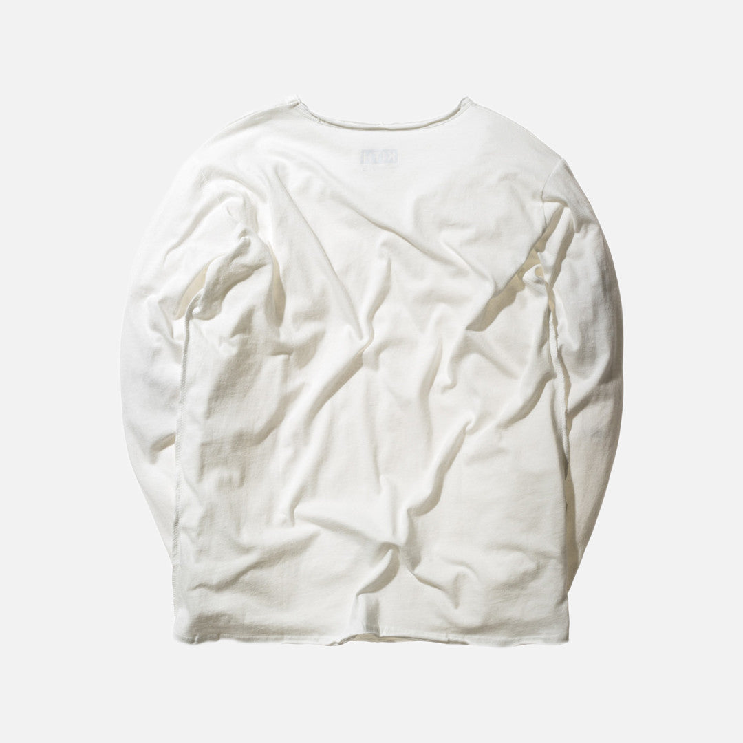 Kith Classics L/S Frayed Bank Tee - Off White