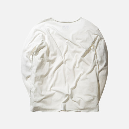 KITH Classics L/S Frayed Bank Tee - Off-White