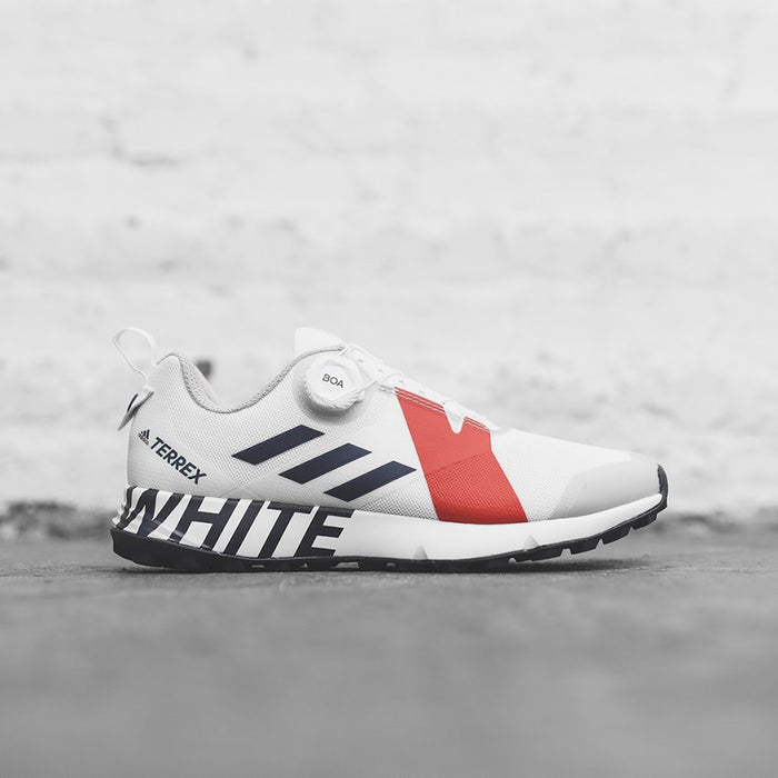 adidas TERREX x White Mountaineering Two BOA - Core White / Collegiate Navy / Red