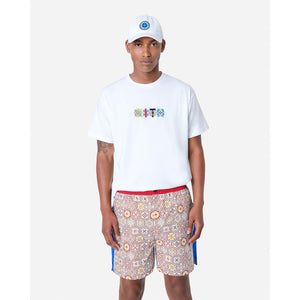 Kith Printed Shorts w/ Side Panel - Brown / Multi Image 2
