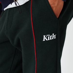Kith Williams Contrast Sweatpant - Dark Green Image 6