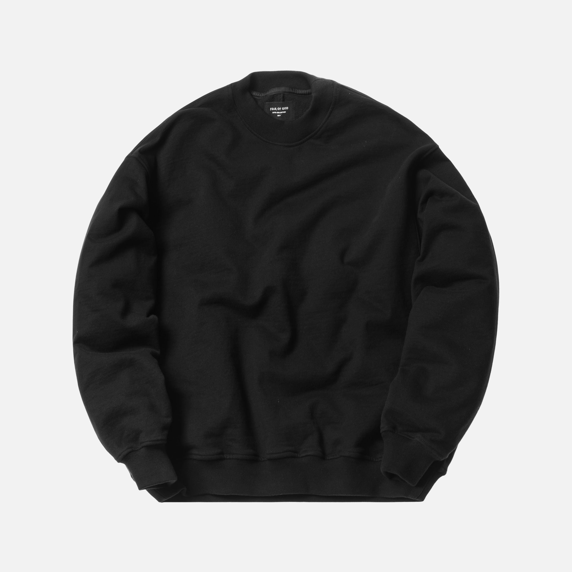 Fear of God 5th Collection Heavy Terry Crewneck - Black