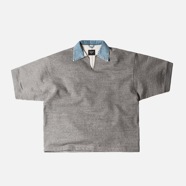 Fear of God 5th Collection V-Neck Polo - Heather Grey