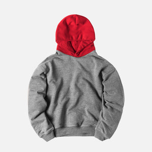 Fear of God 5th Collection Heavy Terry Everyday Hoodie - Grey / Red