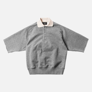 Fear of God 5th Collection Heavy Terry Button-Up Polo - Heather Grey