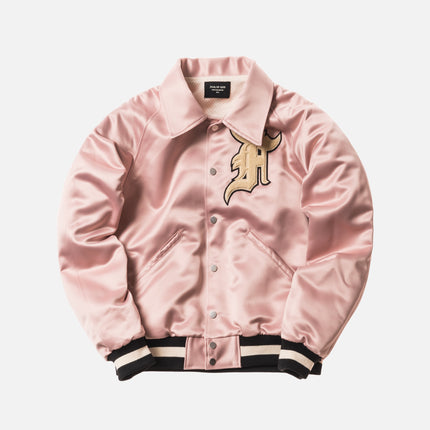 Fear of God 5th Collection Satin Baseball Coaches Jacket - Blush