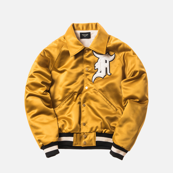 Fear of God 5th Collection Satin Baseball Coaches Jacket - Gold