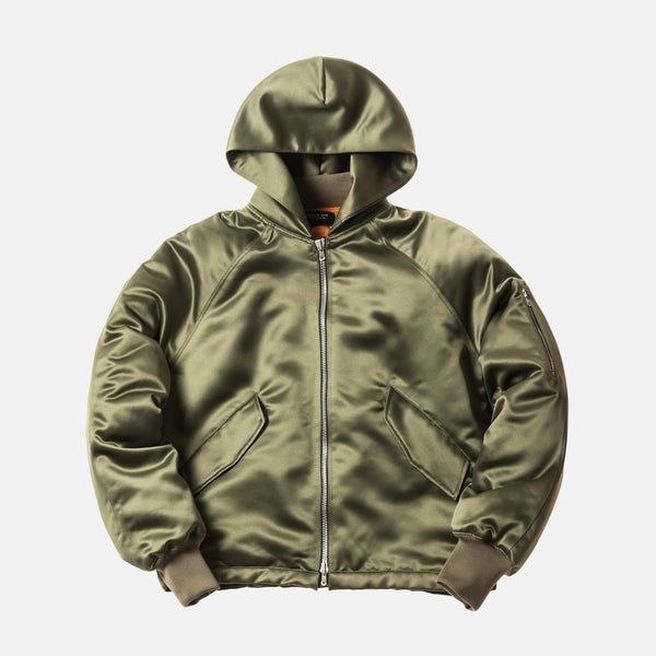 Fear of God 5th Collection Satin Hooded Bomber - Sage