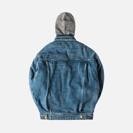 Fear of God 5th Collection Selvedge Denim Terry Hooded Trucker Jacket - Vintage Indigo