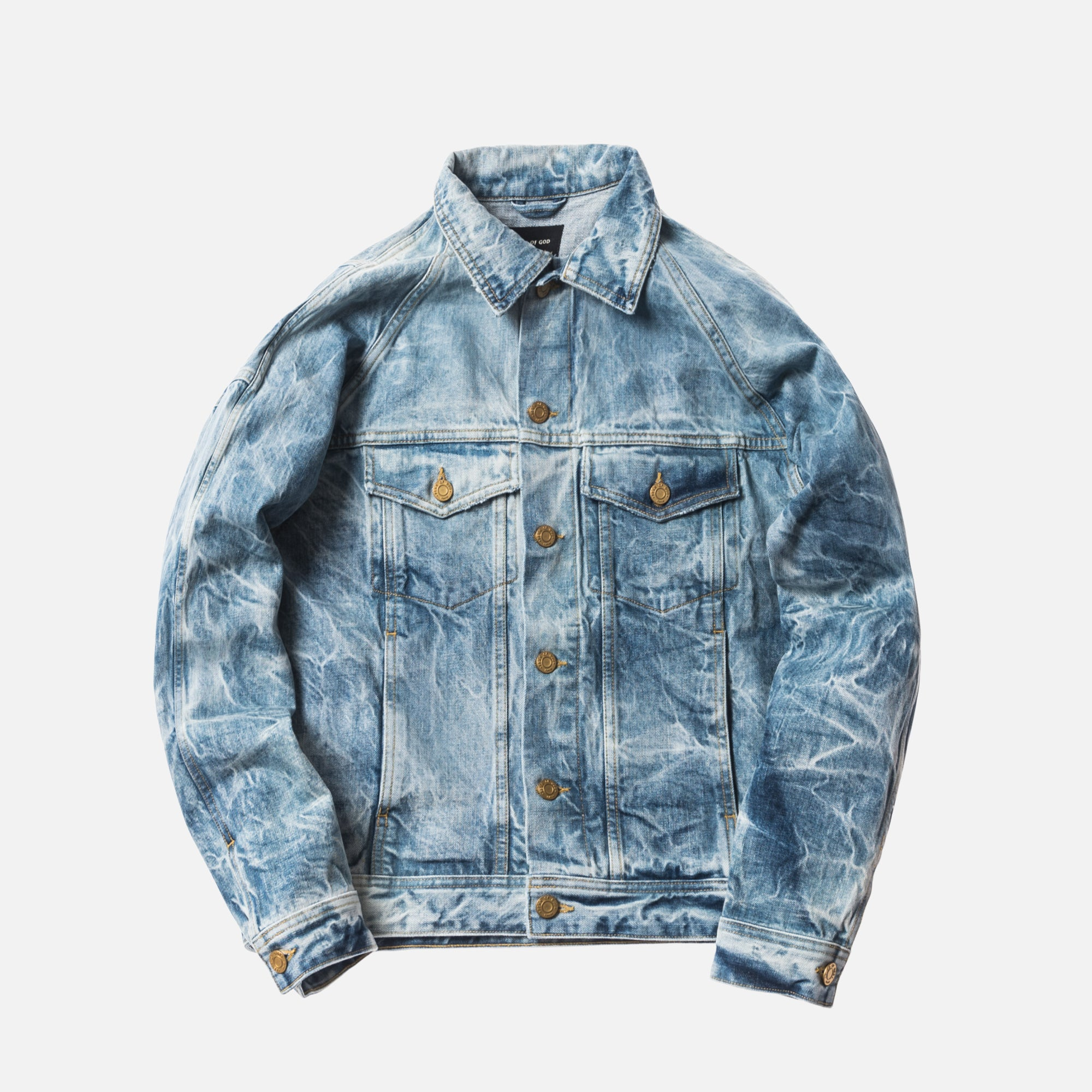Fear of God 5th Collection Selvedge Denim Holy Water Trucker Jacket - Light Blue