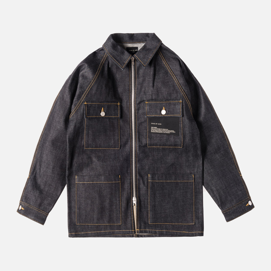 Fear of God Raw Selvedge Denim Long Jacket - Indigo